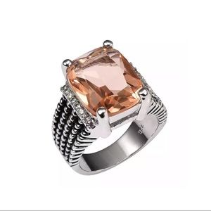 Jewelry - New Sterling Silver Morganite Ring